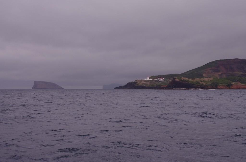 Départ de Terceira l'âme en peine, sous un ciel bien gris