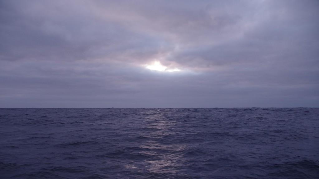 Ciel couvert en Atlantique