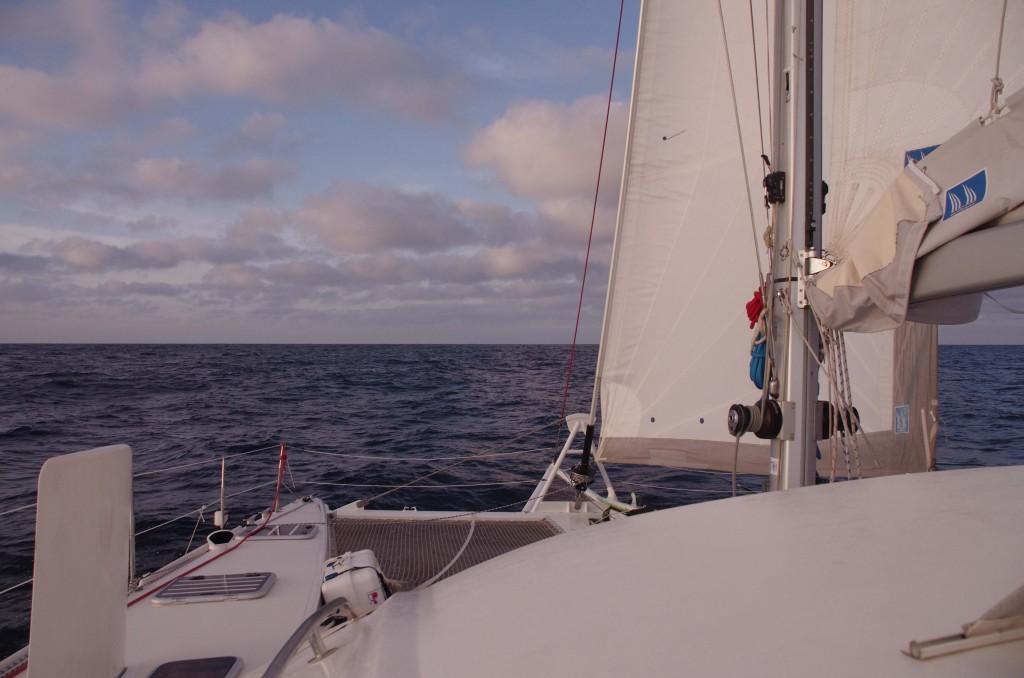 Petit près en catamaran Outremer 45